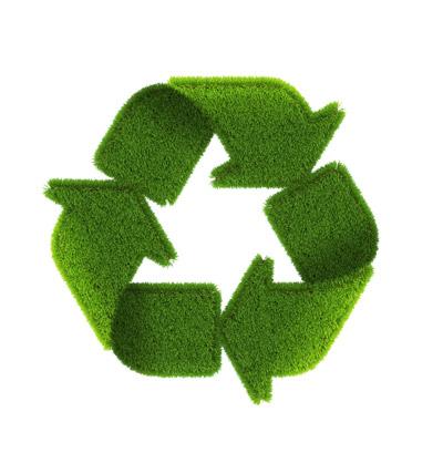 Image de recyclage verte en pelouse Buffet Drummondville