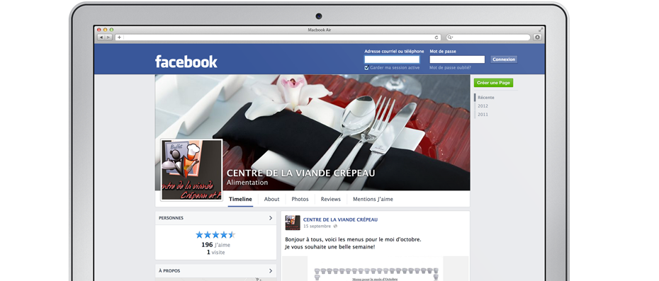 Image de la page Facebook de l'entreprise Buffet Drummondville